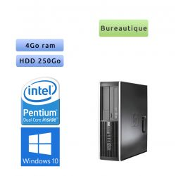 Hp 8300 Elite SFF - Windows 10 - G2020 4GB 250GB - PC Tour Bureautique Ordinateur
