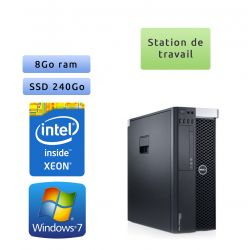 Dell Precision T3600 - Windows 7 - E5-1620 8GB 240GB SSD - Ordinateur Tour Workstation PC
