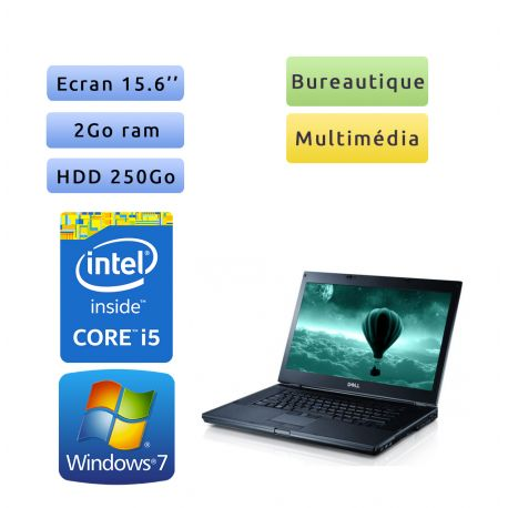 Dell Latitude E6510 - Windows 7 - i5 2Go 250Go - 15.6 - Ordinateur portable - Ecran antireflet