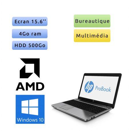 HP ProBook 4545S - Windows 10 - A4-4300M 4Go 500Go - 15.6 - Webcam - Grade B - Ordinateur Portable PC