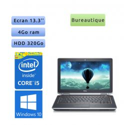 Dell Latitude E6330 - Windows 10 - i5 4Go 320Go - 13.3 - Webcam - Ordinateur Portable PC