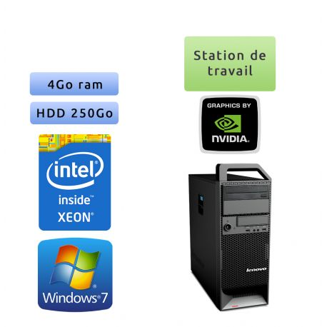 Lenovo ThinkStation S20 TW - Windows 7 - E5520 4GB 250GB - Quadro 2000 - Ordinateur Tour Workstation PC Quadcore