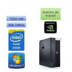 Dell Precision T3600 - Windows 7 - E5-1620 12GB 240GB SSD - Ordinateur Tour Workstation PC