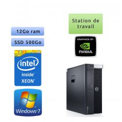 Dell Precision T3600 - Windows 7 - E5-1620 12GB 500GB SSD - Ordinateur Tour Workstation PC