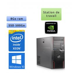 Fujitsu Celsius R920 - Windows 10 - E5-2640 8Go 500Go SSD - Quadro 4000 - Station de travail