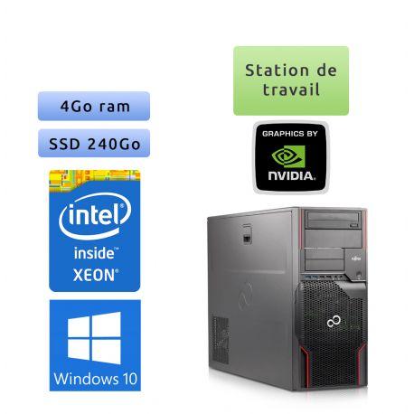 Fujitsu Celsius R920 - Windows 10 - E5-2640 4Go 240Go SSD - Quadro 4000 - Station de travail