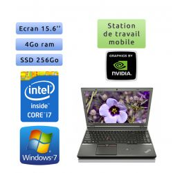 Lenovo ThinkPad W541 - Windows 7 - i7 4Go 256Go SSD - 15.6 - K1100M - Webcam - Workstation Ordinateur Portable PC