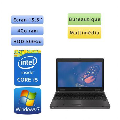 HP Probook 6570b - Windows 7 - i5 4Go 500Go - 15.6 - Webcam - Ordinateur Portable PC