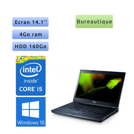 Dell Latitude E6410 - Windows 10 - i5 4GB 160GB - 14.1 - Ordinateur Portable PC