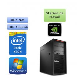 Lenovo ThinkStation P300 - Windows 7 - E3-1220v3 8GB 1000GB - Ordinateur Tour Workstation PC