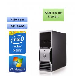 Station de travail Dell Precision T5500 - Windows 7 - E5410 4GB 500GB - Ordinateur Tour Workstation PC