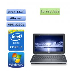 Dell Latitude E6330 - Windows 7 - i5 4Go 320Go - 13.3 - Webcam - Ordinateur Portable PC