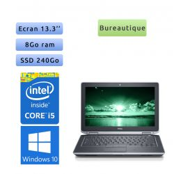 Dell Latitude E6330 - Windows 10 - i5 8Go 240Go SSD - 13.3 - Webcam - Ordinateur Portable PC