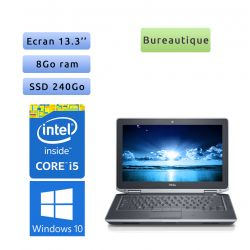 Dell Latitude E6330 - Windows 7 - i5 8Go 240Go SSD - 13.3 - Webcam - Ordinateur Portable PC