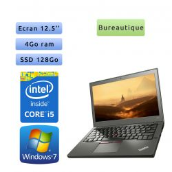 Lenovo ThinkPad X250 - Windows 7 - Webcam - i5 4GB 128GB SSD - 12.5 - Ordinateur Portable PC