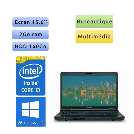 Toshiba Tecra A11 - Windows 10 - i3 2Go 160 Go - Webcam - 15.6 - Ordinateur Portable