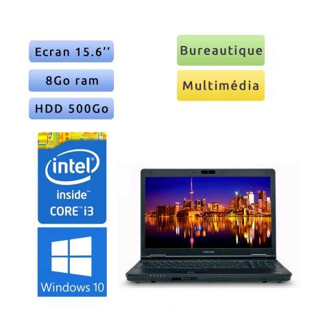 Toshiba Tecra A11 - Windows 10 - i3 8Go 500 Go - Webcam - 15.6 - Ordinateur Portable