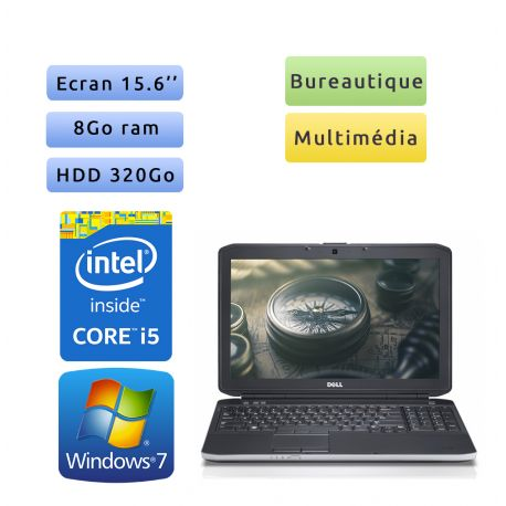 Dell Latitude E5530 - Windows 7 - i5 8Go 320Go - 15.6 - Ordinateur Portable PC