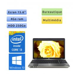 HP ProBook 4530S - Windows 10 - i3 4Go 250Go - 15.6 - Webcam - Ordinateur Portable PC