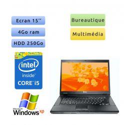 "PC portable Dell Windows XP 32bits - Port Série COM RS232 Port - Core i5 4GB 250GB 15"" - Ordinateur"