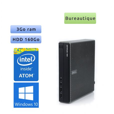 Dell Optiplex FX160 - Windows 10 - Atom 3Go 160Go - Tour Bureautique faible encombrement