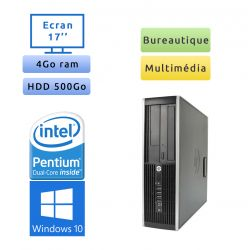 Hp 8200 Elite SFF - Windows 10 - G630 4GB 500GB - Ecran 17 - PC Tour Bureautique Ordinateur
