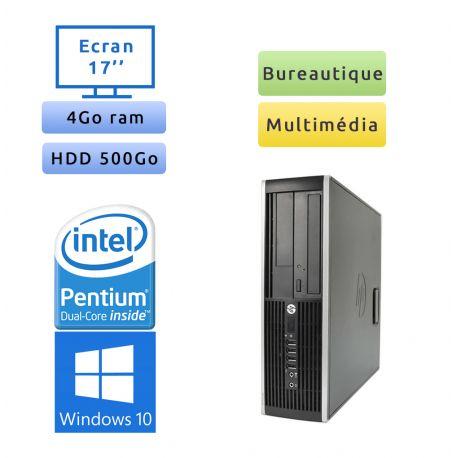 Hp 8200 Elite SFF - Windows 10 - G630 4GB 500GB - Ecran 17 - PC Tour Bureautique Ordinateur