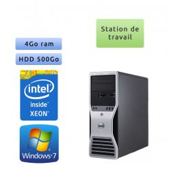 Station de travail Dell Precision T5400 - Windows 7 - E5410 4GB 500GB - Ordinateur Tour Workstation PC
