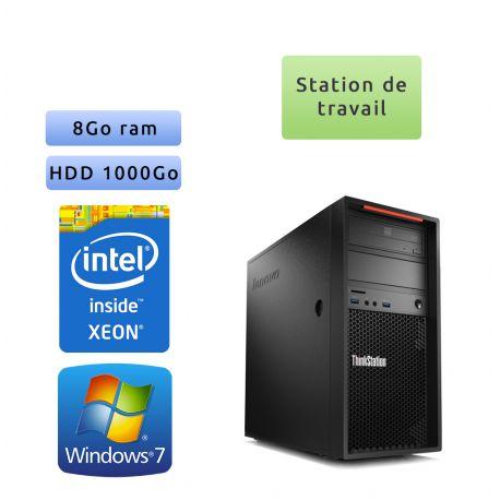Lenovo ThinkStation P300 - Windows 7 - E3-1220v3 8GB 1000GB - Ordinateur Tour Workstation PC
