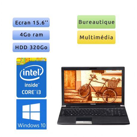 Toshiba Tecra R850 - Windows 10 - i3 4Go 320 Go - Webcam - 15.6 - Grade B - Ordinateur Portable