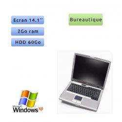 "PC portable Dell Windows XP 32bits - Port Série COM RS232 Port - 2GB 60GB 14"" - Ordinateur"