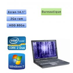 Dell Latitude D630 - Windows 7 - C2D 2GB 80GB - 14.1 - Ordinateur Portable PC