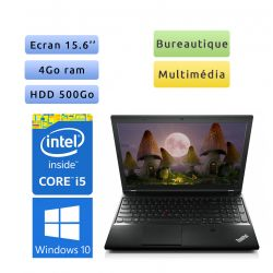 Lenovo ThinkPad L540 - Windows 10 - i5 4Go 500Go - 15.6 - Station de travail - performance & mobilité