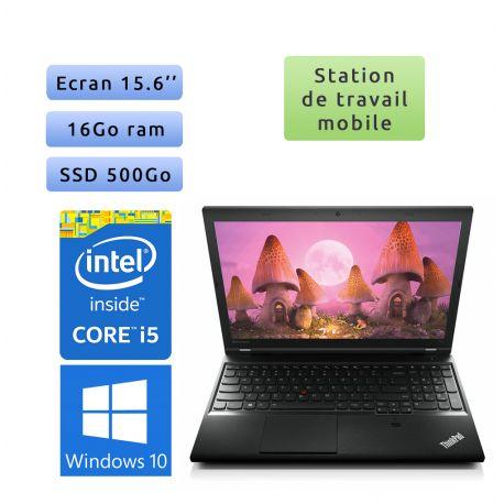 Lenovo ThinkPad L540 - Windows 10 - i5 16Go 500Go SSD - 15.6 - Station de travail - performance & mobilité