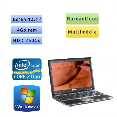 Dell Latitude D430 - Windows 7 - C2D 4GB 250GB - 12.1 - Ordinateur Portable