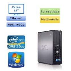DELL Optiplex 780 + Ecran 19 - Windows 7 - Ordinateur Tour Bureautique