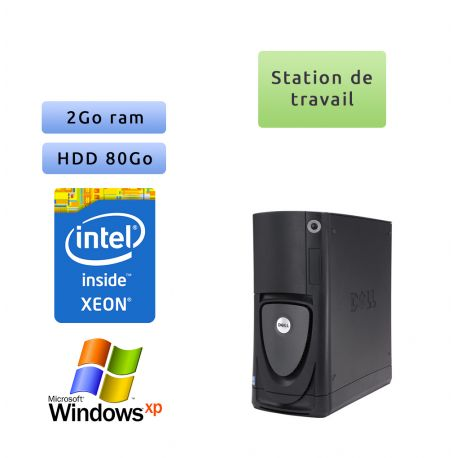 Dell Precision 670 Workstation - Windows XP Pro - Xeon 2Go 73Go - Station de travail Occasion
