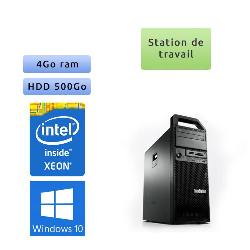 Lenovo ThinkStation S30 TW - Windows 10 - E5-1603 4Go 500Go - Ordinateur Tour Workstation PC