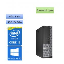 Tour Faible Encombrement Dell - Windows 10 - i5 4GB 240GB SSD - Wifi - Ordinateur
