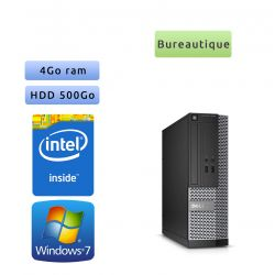 Dell Optiplex 3020 SFF - Windows 7 - G3240 4GB 500GB - Ordinateur Tour Bureautique PC