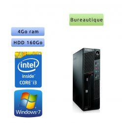 Lenovo ThinkCentre M90 Eco USFF - Windows 7 - i3 - 4GB 160GB - Poste Bureautique Faible encombrement
