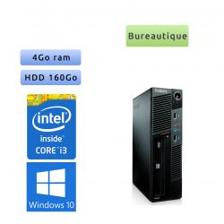 Lenovo ThinkCentre M90 Eco USFF - Windows 10 - i3 - 4GB 160GB - Poste Bureautique Faible encombrement