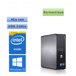 Dell Optiplex 780 SFF - Windows 10 - CD 4GB 250GB - Ordinateur Tour Bureautique PC
