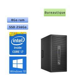 HP ProDesk 600 G2 MT - Windows 10 - i7 8GB 256GB SSD - Ordinateur Tour PC