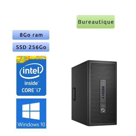 HP ProDesk 600 G2 MT - Windows 10 - i7 8GB 256GB SSD - Ordinateur Tour PC