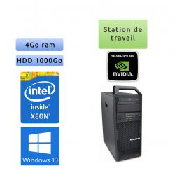 Lenovo ThinkStation S20 TW - Windows 10 - E5520 4Go 1To - Quadro 2000 - Ordinateur Tour Workstation PC