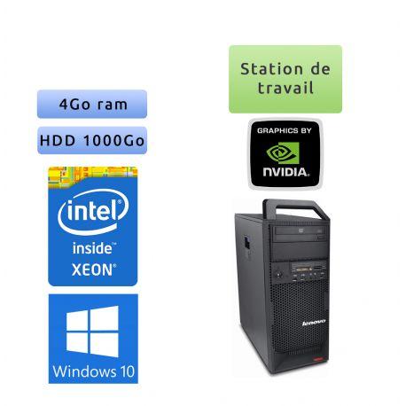 Lenovo ThinkStation S20 TW - Windows 10 - E5520 4Go 1To - Quadro 2000 - Ordinateur Tour Workstation PC