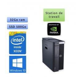 Dell Precision T5600 - Windows 10 - E5-2643 32Go 500Go SSD - Ordinateur Tour Workstation PC