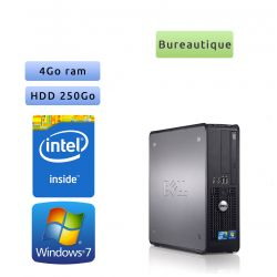 Dell Optiplex 780 SFF - Windows 7 - C2Q 4GB 250GB - Ordinateur Tour Bureautique PC