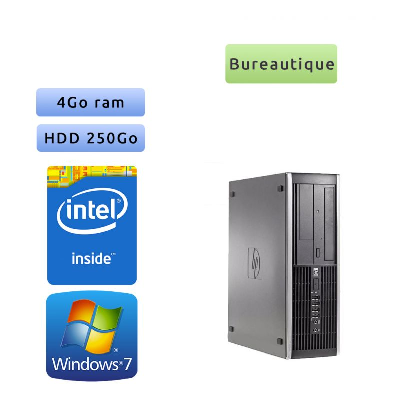 Hp 6200 Pro SFF - Windows 7 - G620 4GB 250GB - PC Tour Bureautique Ordinateur